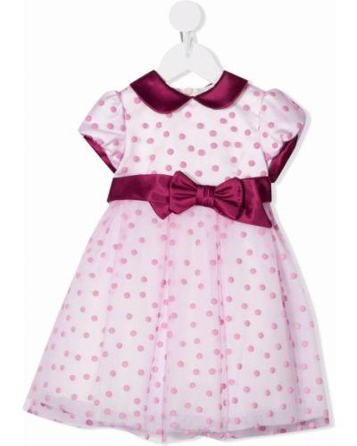 Różowa sukienka krótki rękaw Colorichiari