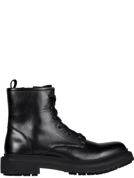 Кожаные ботинки - черные Bikkembergs