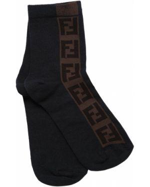 Czarne skarpety bawełniane Fendi