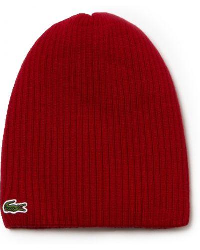 Теплая шапка - черная Lacoste