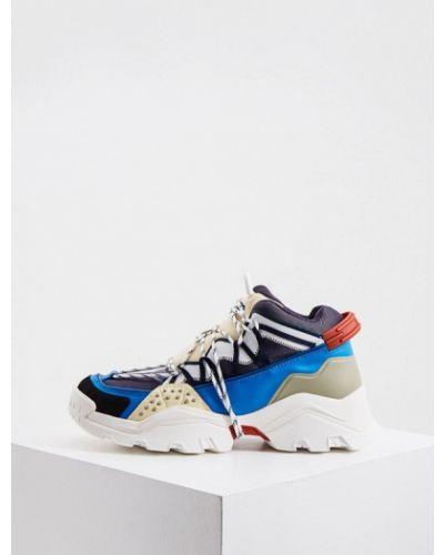 Низкие кроссовки - синие Kenzo