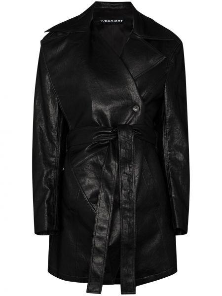 Черная кожаная куртка Y/project