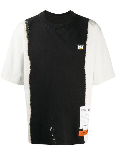 Bawełna prosto czarny koszula krótkie z krótkim rękawem okrągły dekolt Heron Preston