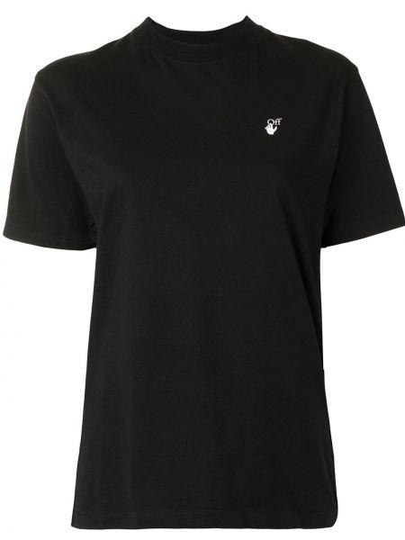 Bawełna bawełna czarny koszula krótkie rękawy Off-white