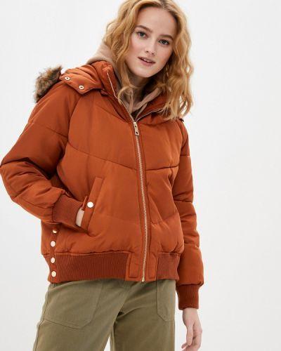 Коричневая утепленная куртка Adrixx