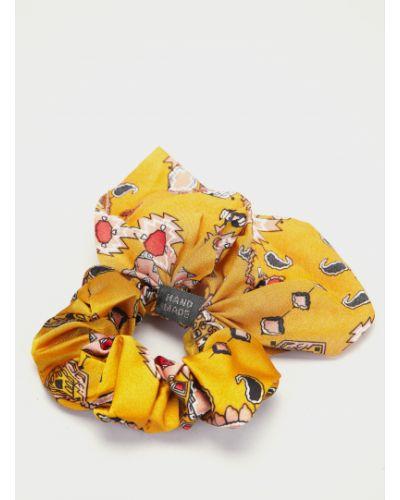 Желтая резинка для волос на резинке Braska