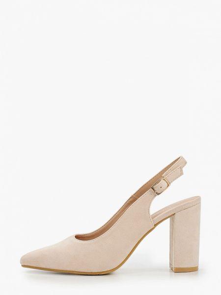 Кожаные туфли с открытой пяткой розовый Tulipano