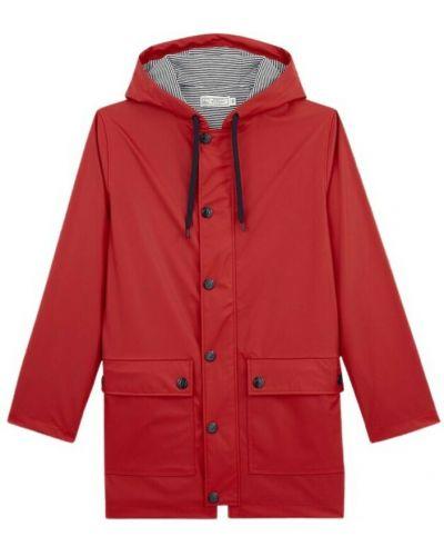 Czerwony płaszcz przeciwdeszczowy Petit Bateau