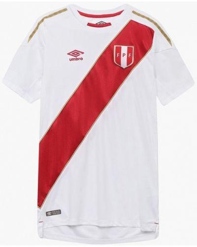 Белая спортивная футболка Umbro