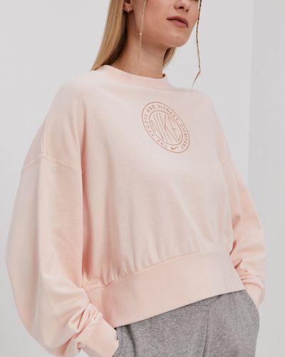Różowa bluza z kapturem bawełniana Nike Sportswear