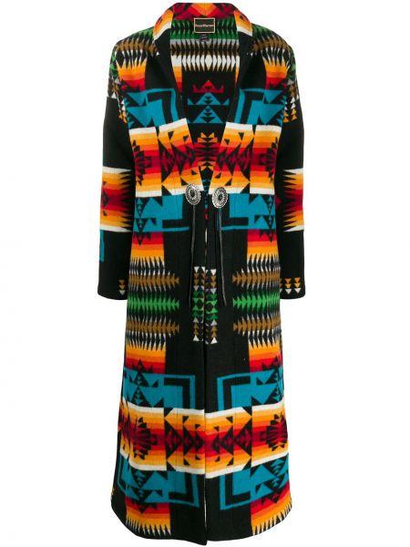 Коралловое шерстяное длинное пальто на пуговицах с лацканами Jessie Western
