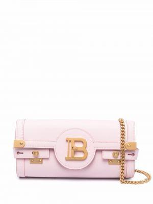 Кожаная сумка - розовая Balmain