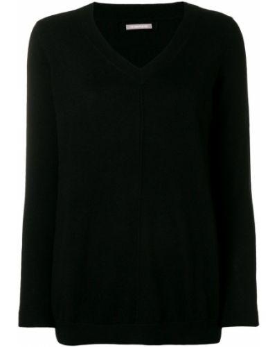 Черный свитер с вырезом Hemisphere