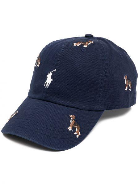Z paskiem bawełna bawełna czapka z daszkiem z haftem Polo Ralph Lauren