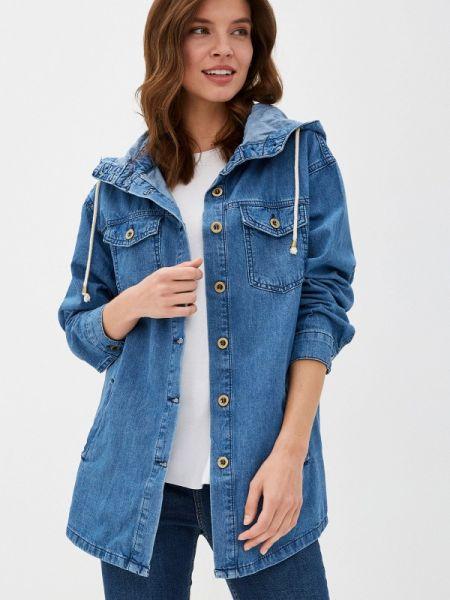 Джинсовая куртка весенняя синий Defacto