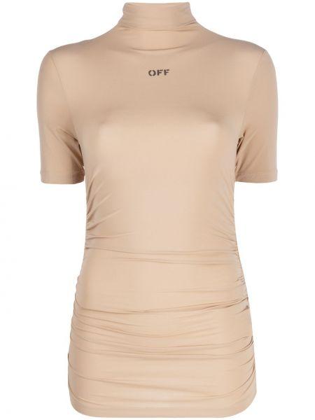Wyposażone jasnoróżowy koszula z krótkim rękawem krótkie rękawy Off-white