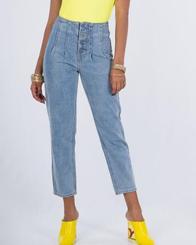 Синие джинсы на пуговицах Lost Ink.