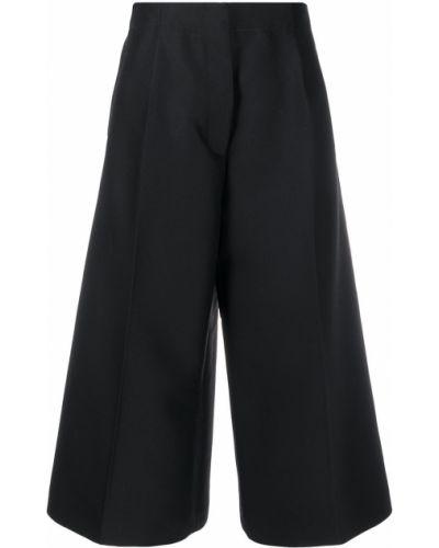 Шерстяные черные кюлоты с карманами Marni