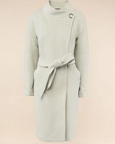 Зеленое шерстяное пальто с воротником Electrastyle