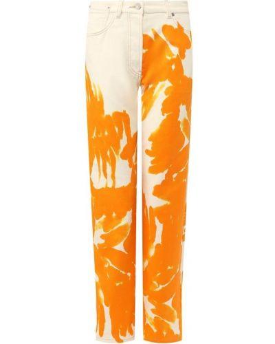 Прямые джинсы с узором Dries Van Noten