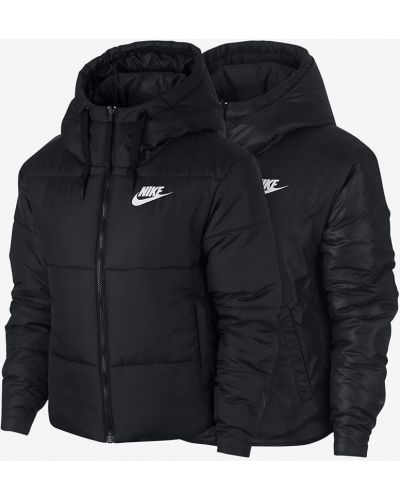 Прямая черная стеганая куртка двусторонняя Nike