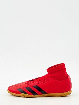 Красные зимние бутсы Adidas