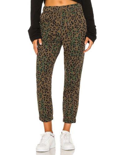Хлопковые зеленые брюки карго на резинке Pam & Gela