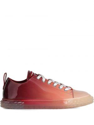 Koronkowa różowy skórzany sneakersy Giuseppe Zanotti