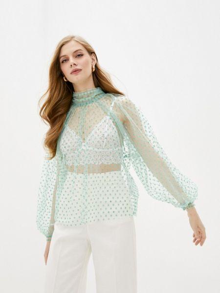 Блузка с длинным рукавом бирюзовая весенний Imperial