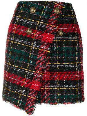 Шерстяная юбка - черная Balmain