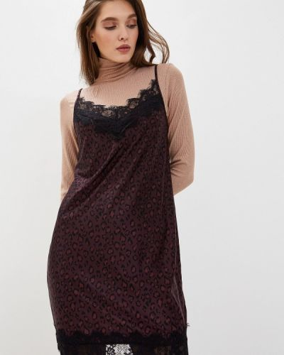 Платье бордовый платье-комбинация Love Republic