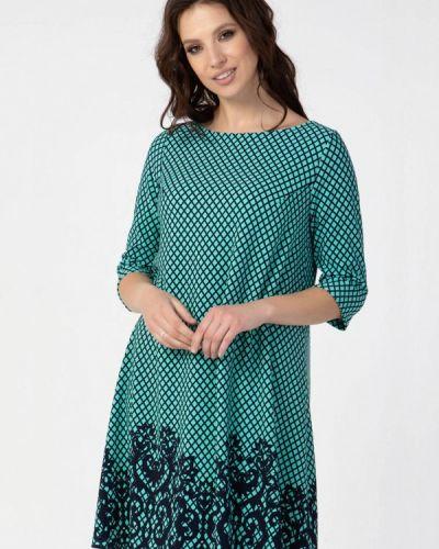 Бирюзовое повседневное платье Prima Linea