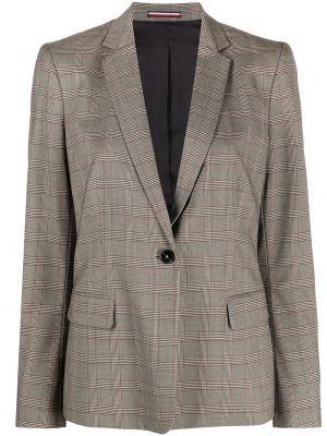 Однобортный удлиненный пиджак в клетку на пуговицах Tommy Hilfiger