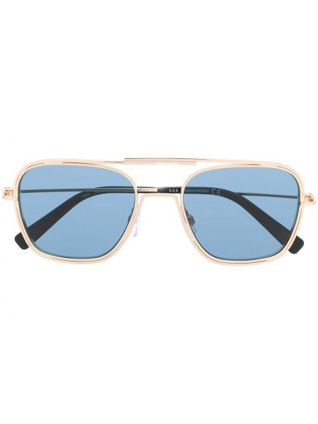 Желтые солнцезащитные очки квадратные металлические с завязками Dsquared2 Eyewear