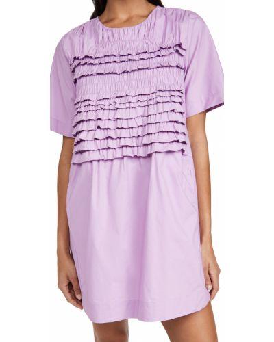 Платье с короткими рукавами с декольте с подкладкой English Factory