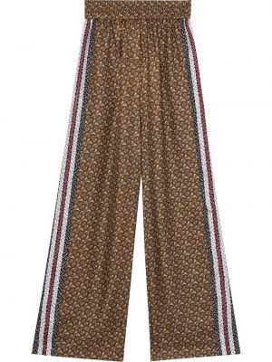 Шелковые коричневые брюки Burberry