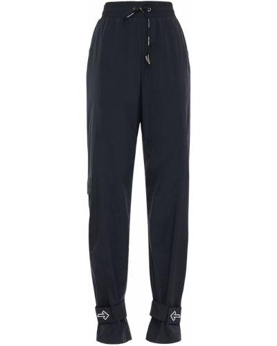 Czarny nylon spodnie na gumce z mankietami na gumce Off-white