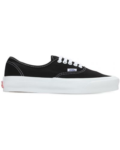 Koronkowa czarny sneakersy na sznurowadłach Vans