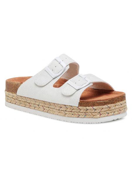 Sandały espadryle - białe Cross Jeans