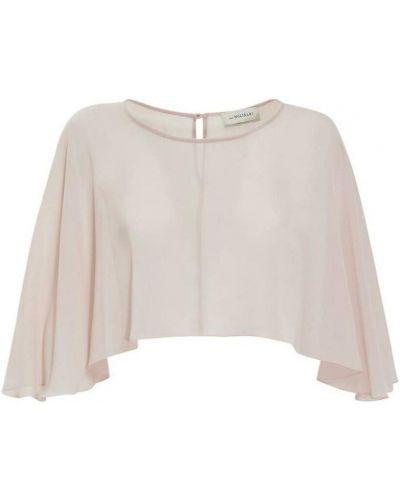Różowa bluzka kopertowa Anna Molinari