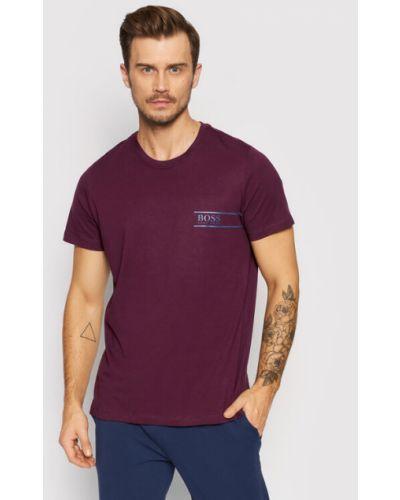 T-shirt - fioletowa Boss