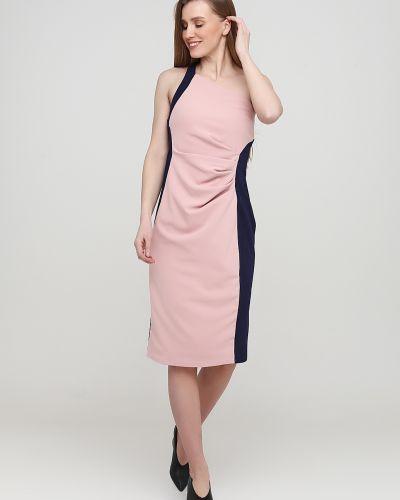 Прямое розовое платье с открытой спиной City Goddess