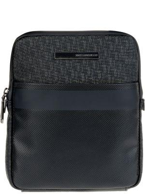 Кожаная сумка на молнии из полиэстера Trussardi Jeans