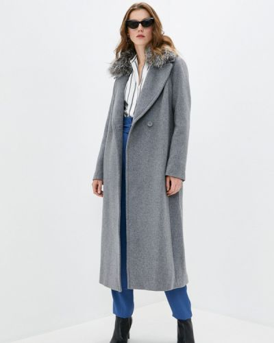 Серое пальто Soia & Kyo