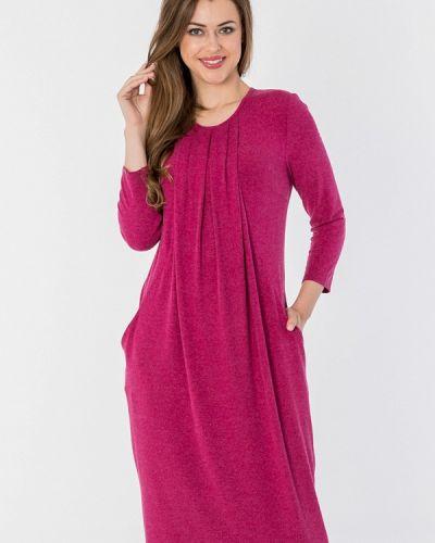 Платье миди розовое осеннее S&a Style
