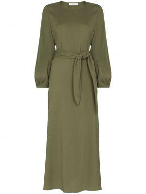 Хлопковое платье миди - зеленое Peony