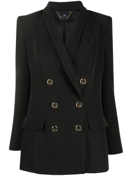 Куртка черная с карманами Elisabetta Franchi