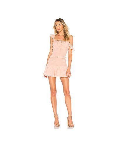 Платье мини розовое из вискозы Tularosa