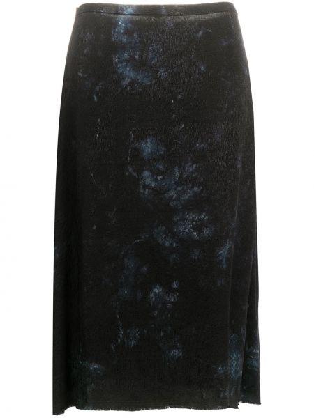 Синяя с завышенной талией юбка миди Raquel Allegra