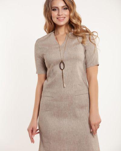 Деловое платье платье-сарафан из вискозы Olga Peltek